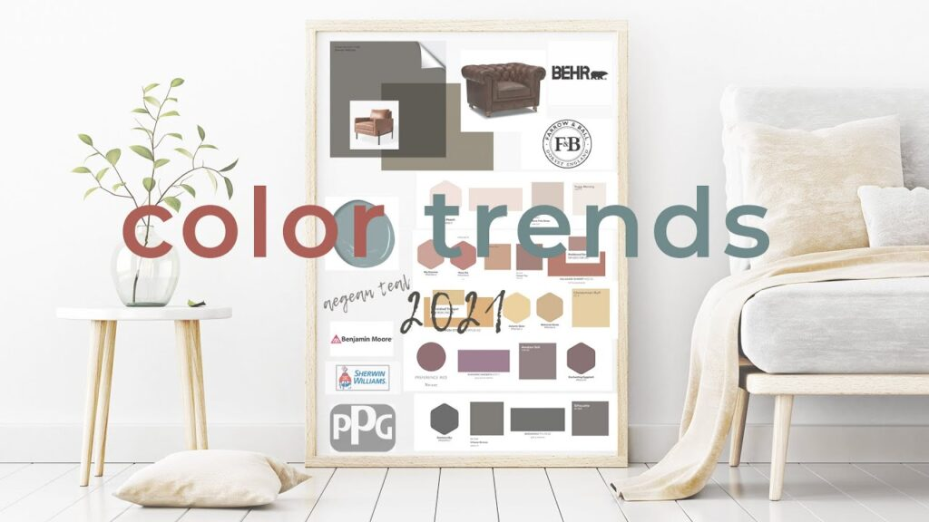 Color Trends & Color of the Year 2021 // Benjamin Moore, Sherwin Williams, PPG, Farrow & Ball, Behr