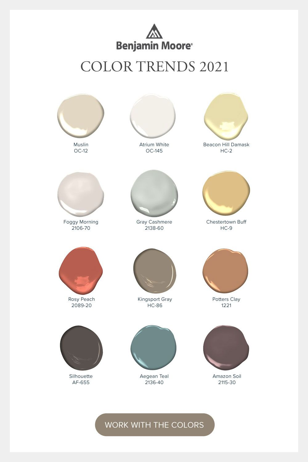 12 Paint Colors that Comfort + Uplift: Introducing Our Color Trends 2021 Palette