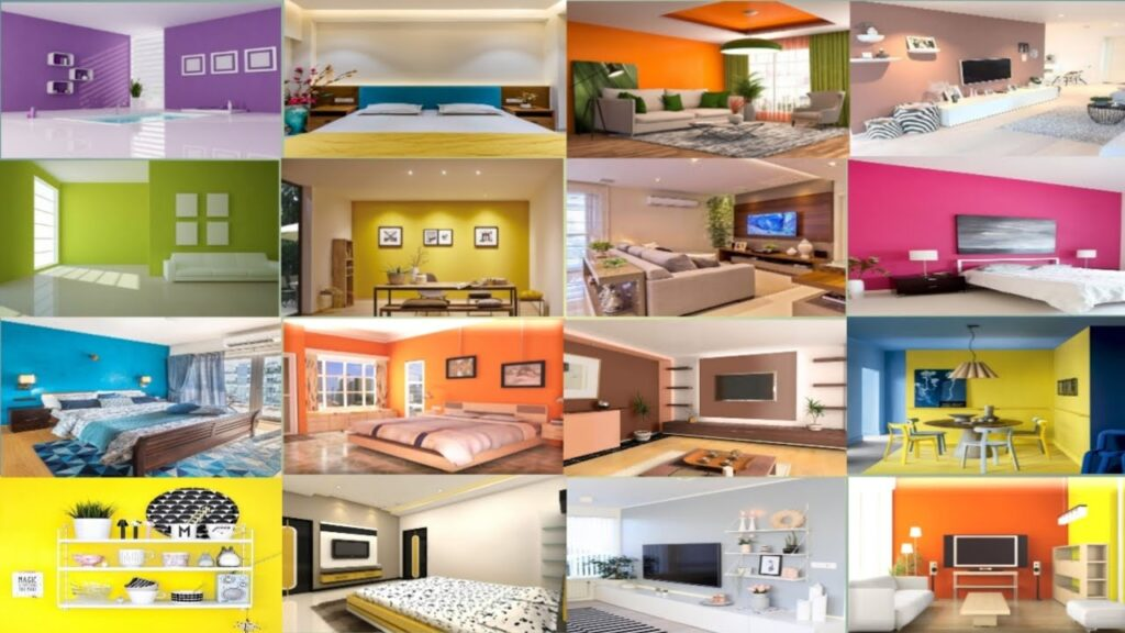 Best Colour Combination for Living Room Wall, House Wall, Interior Wall Color Ideas, Bedroom Wall
