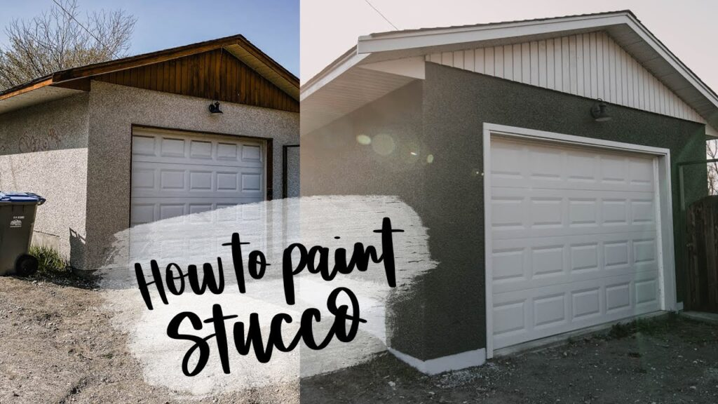 How To Paint Stucco Exterior | Detached Garage Makeover