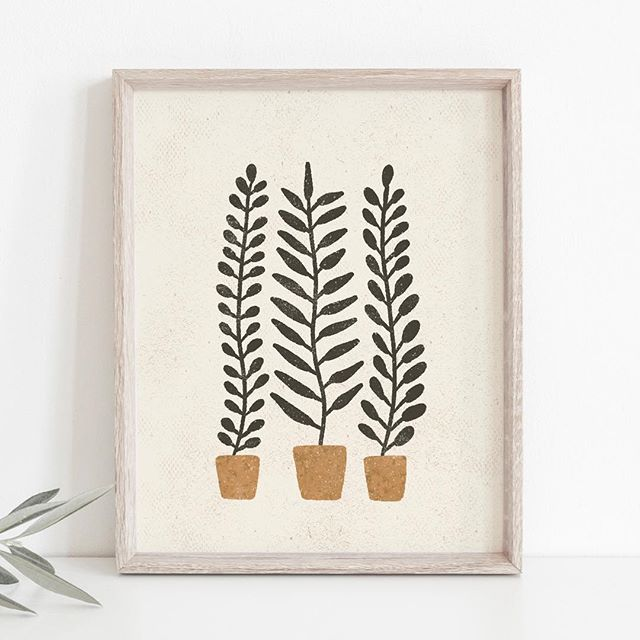 Potted Ferns Wall Art Print