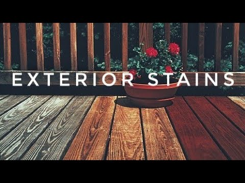 STAINING A DECK | Exterior Wood Staining for Beginners