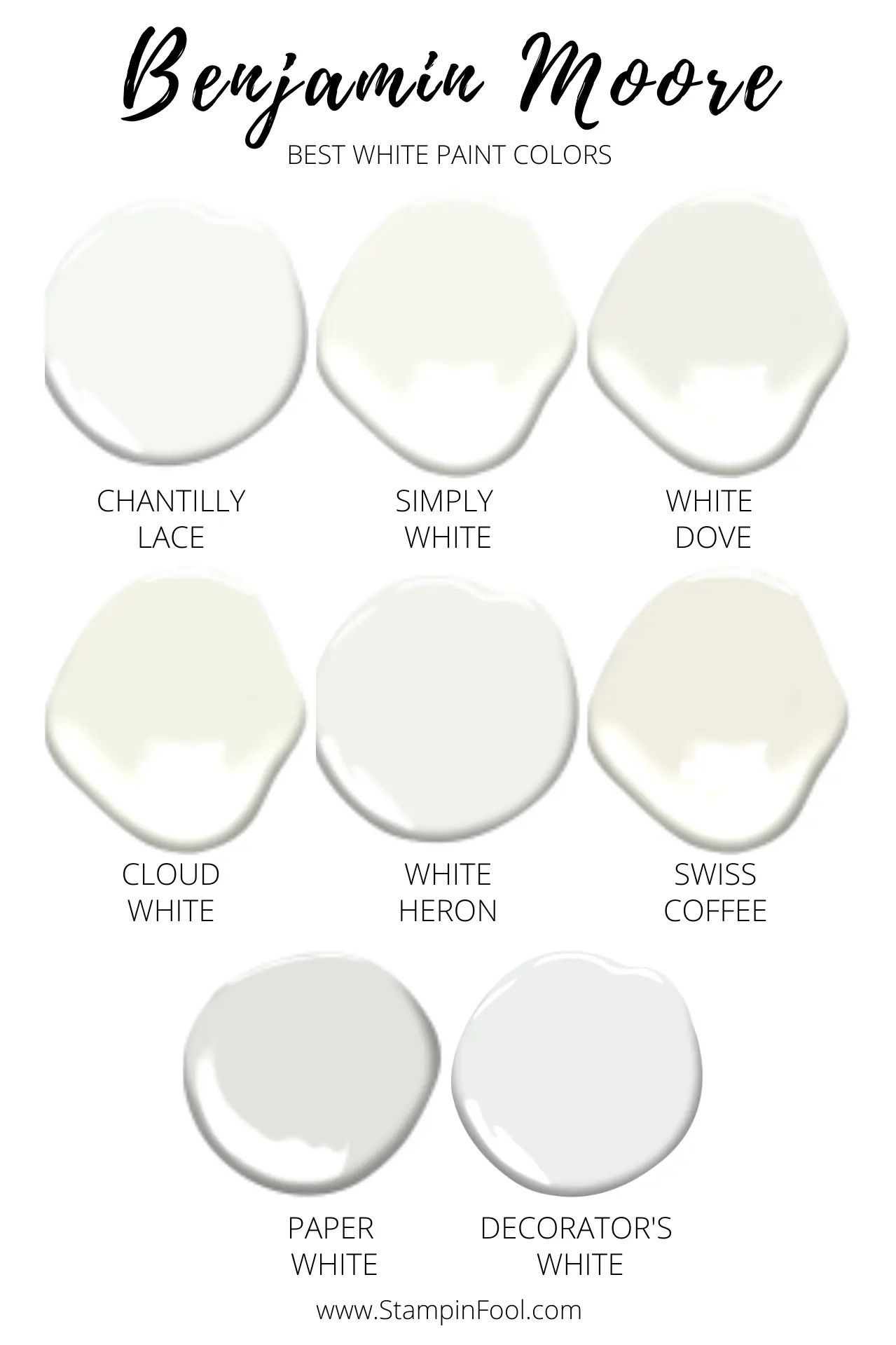 THE BEST 8 BENJAMIN MOORE WHITE PAINT COLORS IN 2020 |