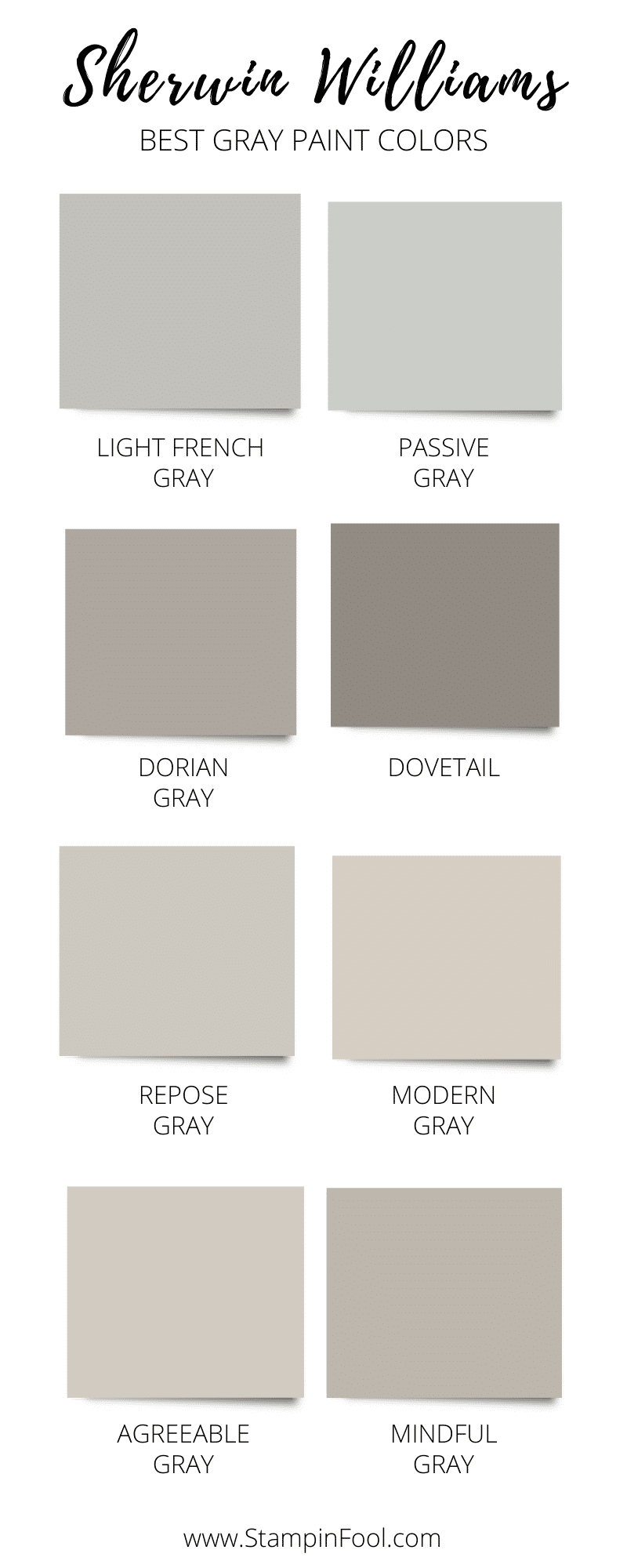 The Best Sherwin Williams Gray Paint Colors in 2020